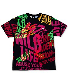 LRG Men's Trippy Type Graphic T-Shirt
