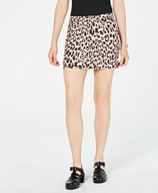 Juniors' Animal-Print Mini Skirt, Created for Macy's