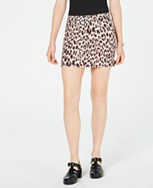 Material Girl Juniors' Animal-Print Mini Skirt, Created for Macy's