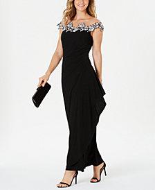 MSK Floral Appliqué Gown