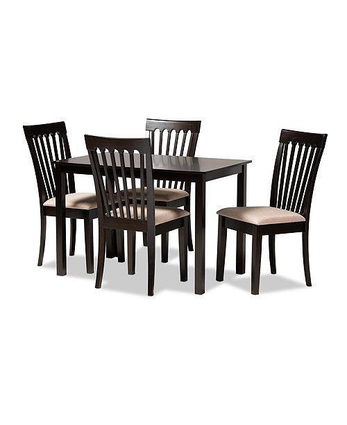 Furniture Minette 5pc Dining Set, Quick Ship
