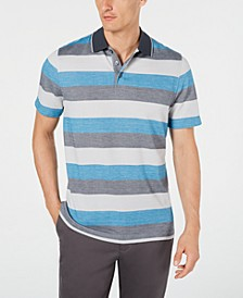Men's Striped Supima® Blend Stripe Polo, Created for Macy's