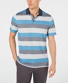 Tasso Elba Men's Supima® Blend Birdseye Striped Polo, Created for Macy's