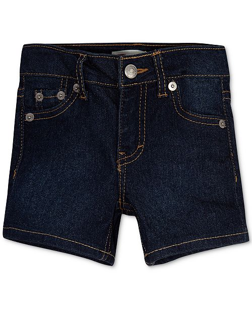 Levi's Little Girls Distressed Denim Shorts