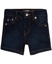 Toddler Girls Distressed Denim Shorts