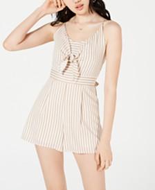 One Clothing Juniors' Tie-Front Romper