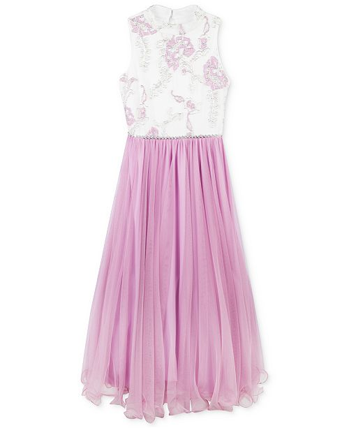 Speechless Big Girls Embroidered Wire-Hem Dress