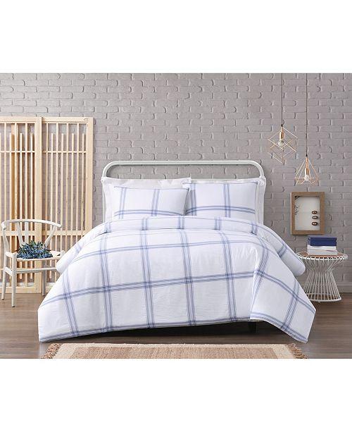 Cottage Classics Modern Charm Cotton 3 Piece Full/Queen Comforter Set