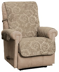 P/Kaufmann Home Innovative Textile Solutions Lemont Scroll Jacquard Recliner/Wing Chair/Club Chair Furniture Cover Slipcover
