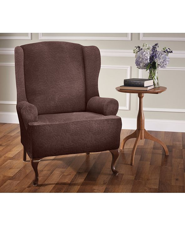P/Kaufmann Home Stretch Sensations Fernwood Wing Chair Slipcover