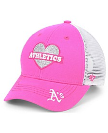 Girls' Oakland Athletics Sweetheart Meshback MVP Cap
