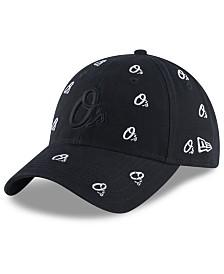 New Era Women's Baltimore Orioles Logo Scatter Adjustable 9TWENTY Cap