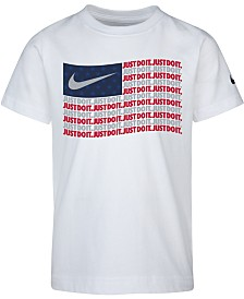 Nike Toddler Boys Flag-Print Cotton T-Shirt