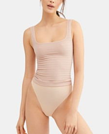 Free People Square One Seamless Ribbed Tank