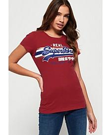 Vintage Logo Foil Stripe T-Shirt