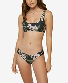O'Neill Juniors' Jada Printed Bikini Top & Jada Printed Bikini Bottoms