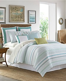 Tommy Bahama La Scala Breezer Seaglass Duvet Set, Full/Queen