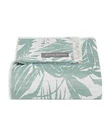 Tommy Bahama Desert Fronds Castaway Green Knit Throw