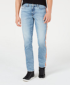 GUESS Men's Slim Tapered Side-Taped Jeans