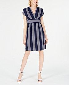 Anne Klein Striped A-Line Dress