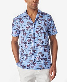Men's Beach Scene Slim Fit Camp Shirt