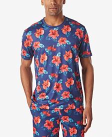 Men's Tropical Floral Crew Neck T-Shirt