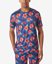 Tallia Men's Tropical Floral Crew Neck T-Shirt