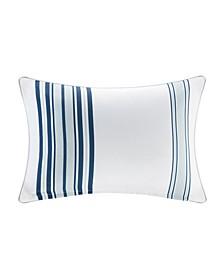 """Newport 14"""" x 20"""" Printed Stripe 3M Scotch Gard Outdoor Oblong Pillow"""