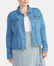 Trendy Plus Size Kerrie Denim Jacket