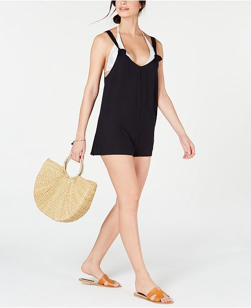 Roxy Juniors' Cutty Heart Romper Swim Cover-Up