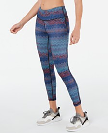 Ideology Chevron-Print Leggings, Created for Macy's