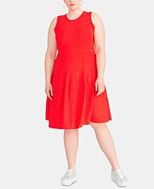 Trendy Plus Size Liliana Fit & Flare Sweater Dress