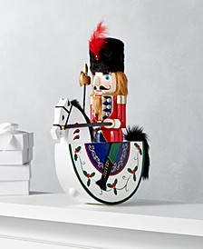"Christmas Cheer 13"" Red & Green Rocking Horse Nutcracker, Created for Macy's"
