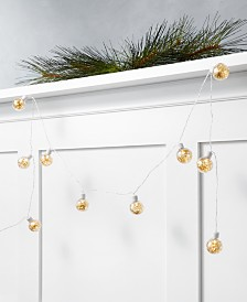 Holiday Lane Shine Bright 6' LED Ball Garland, Created for Macy's