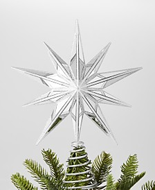 Holiday Lane Shine Bright Silver Star Tree Topper, Created for Macy's