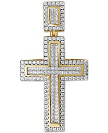 Men's Diamond Cross Pendant (3 ct t.w.) in 10k Gold