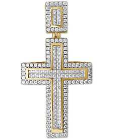 Diamond Cross Pendant (3 ct t.w.) in 10k Gold