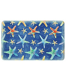 "Watercolor Starfish 22""x35"" Memory Foam Rectangle Rug"