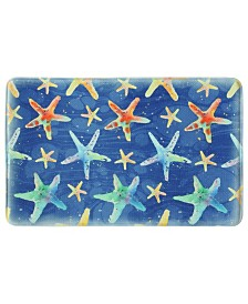 Bacova Watercolor Starfish Memory Foam Rug Collection