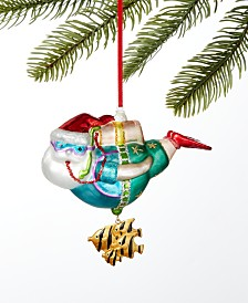 Holiday Lane Florida Scuba Diving Santa Ornament Created For Macy's