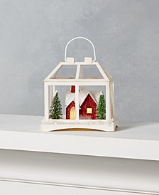 Farmhouse Holidays Paper Ornament with Red House & LED Light, Created for Macy's