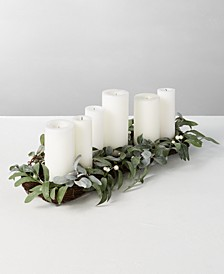Silver Woods Artificial Mistletoe Candle Holder Centerpiece, Created for Macy's