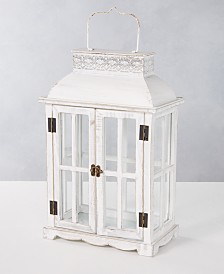 Martha Stewart Collection Silver Woods Wood Lantern, Created for Macy's