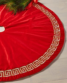 Red & Gold Embroidered Tree Skirt, Created for Macy's