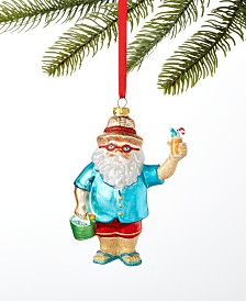 Holiday Lane Hawaii Santa Ornament, Created For Macy's
