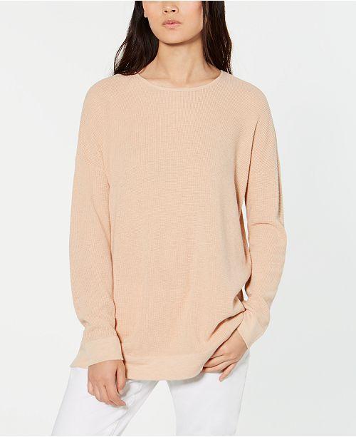 Eileen Fisher Organic Cotton Waffle-Knit Sweater