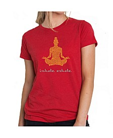 Women's Premium Word Art T-Shirt - Inhale Exhale