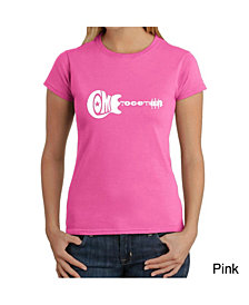 Women's Word Art T-Shirt - Come Together