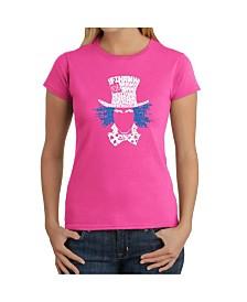 Women's Word Art T-Shirt - The Mad Hatter