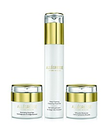 Allegresse 24K Skincare Clean and Hydrate 3 Piece Set